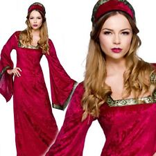 Royal Medieval Ladies Fancy Dress Book Character Tudor Womens Adult Costume New