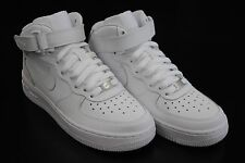 [314195 113] KID'S GS NEW NIKE AIR FORCE 1 MID ALL WHITE GRADE SCHOOL YOUTH WK1