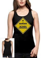 Danger Women Drinking Alcohol Cocktail Party Funny Top Women Tank Top Small / /