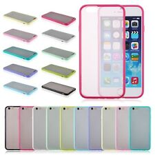 New Hard Matte Clear Back Case with Soft Silicone TPU Bumper for iPhone 6/5s/5