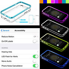 """Rock TPU Incoming Call LED Blink Transparent Back Case Cover For iPhone 6 4.7"""""""