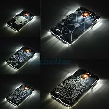 LED Sense Flash Light Clear Hard Back Case Cover for Samsung Galaxy S4 S IV