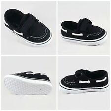 Infant, Baby, Toddler Boys Black Boat Shoe Loafer Sneakers Tennis Shoes Velcro