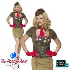 Adult CLASSIFIED 40's Army Babe Complete Costume Military Fancy Dress Outfit