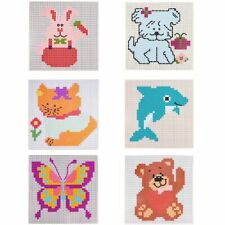 Beginners Child Cross Stitch Cat Dog Bear Dolphin Flower Butterfly Embroidery