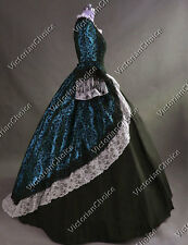 Colonial Victorian Dress Party Belle Gown Women Halloween Costume Steampunk 164