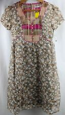 New Urban Outfitters Kimchi Blue Flowery Half Button Up Floral Dress Cotton