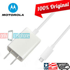 Brand New OEM Original Motorola Premium White Micro USB Home Wall Travel Charger