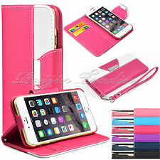 For Apple iPhone 6 4.7 Inch Magnetic Flip PU Leather Pouch Wallet Case Cover