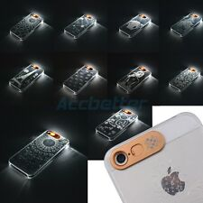 For iPhone 5 5S Fashion Patterns Flash Up LED Light Clear Hard Case Back Cover