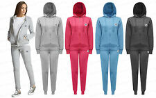 Ladies Womens All Stars Hooded Tracksuit Hood Top Joggers Pants Zip Up S-XL