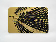 50 X Gold Metal Gift/Business Cards Designed and Printed