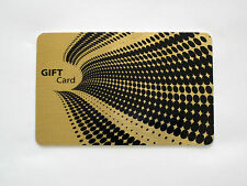 Custom Printed Gold Gift, Membership, Business Cards Solid Brushed Metal