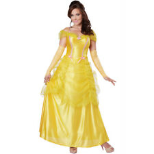 Classic Beauty Womens Costume Adult Belle And The Beast Disney Princess New