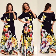 2015 Sexy Women Summer Boho Long Evening Party Dress Beach Maxi Dresses Sundress
