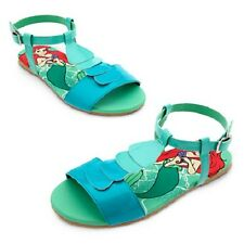 ARIEL~SANDALS~Snap Strap~The Little Mermaid~Girls~9-10-11-12~Disney Store~2015