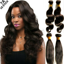 "18"" 20"" 22"" 1-3 Bundles Unprocessed Brazilian Peruvian Virgin Human Hair US A174"