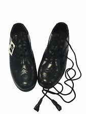New Gents Luxury Ghillie Brogues Black Leather Soles and Uppers