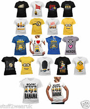 Official Minions Movie / Despicable Me T Shirts New Womens Mens Stuart Dave
