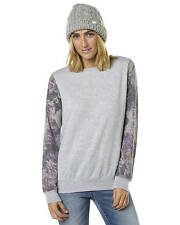 New All About Eve Women's Orchid Womens Crew Womens Hoodie Grey