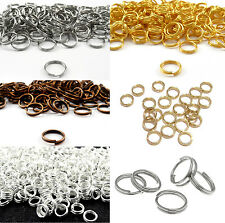 Wholesale 80-300Pcs Open Double Split Jump Rings Connectors Findings DIY 4-14mm