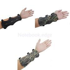 Adjustab 3 Strap Band Arm Guard Protective Gear Leather Archery Shooting Armband
