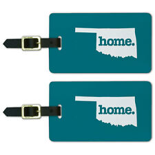 Oklahoma OK Home State Luggage Suitcase ID Tags Set of 2
