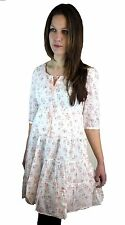 WOMENS VINTAGE STYLE SUMMER COTTON DRESS SIZES 6 8 10 12 14 16 18 20
