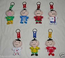 Minna No Tabo Plush Keychain Doll Soccer Football Country Japan USA England
