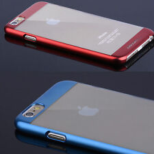 Fashion Ultra thin Electroplate Metal Clear Case back cover for iPhone6/ 6 Plus