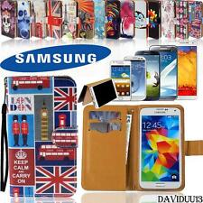 New Folio Flip Wallet Card Stand Leather Case Cover For Various Samsung Phones