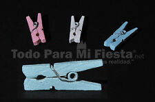 Baby Shower Favors mini clothes pins decorations Decoracion de Baby shower mini