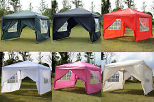 MCombo 10x10 EZ POP UP 4 WALLS CANOPY PARTY TENT GAZEBO WITH SIDES Colors