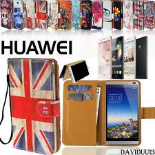 New Folio Flip Wallet Card Stand PU Leather Case Cover For Various Huawei Phones
