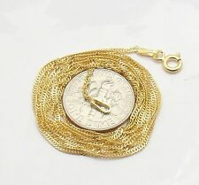 Technibond Singapore Sparkle Chain Necklace 14K Yellow Gold Clad Sterling Silver
