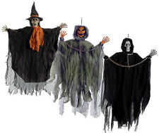 Scary Hanging Figure Witch Skeleton Haunted Mansion Decoration Halloween Decor