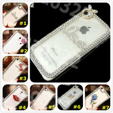 New 3D Shine luxury Bling Transparent Clear Crystal Hard Back Case Cover skin #2