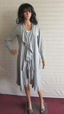 New Simply Be Ladies Maxi Jersey Waterfall Shrug Cardigan Size 14 UK Grey Marl