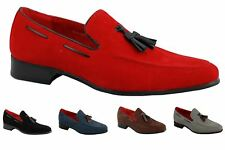 Men's Smart Suede Leather Tassel Heel Loafer Slip on Summer MOD Driving Shoes