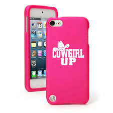 For Apple iPod Touch 4th 5th 6th Rubber Hard Case Cover Cowgirl Up with Hat