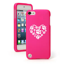 For Apple iPod Touch 4th 5th 6th Rubber Hard Case Cover Heart Paw Prints