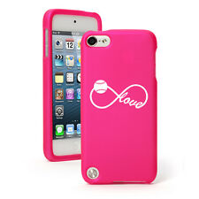 For Apple iPod Touch 4th 5th 6th Rubber Hard Case Cover Infinity Love Softball