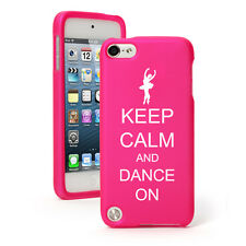 For Apple iPod Touch 4th 5th 6th Rubber Hard Case Cover Keep Calm Dance On