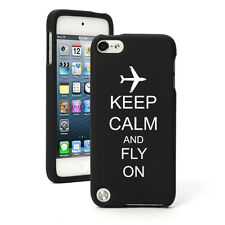 For Apple iPod Touch 4th 5th 6th Rubber Hard Case Keep Calm Fly On Airplane