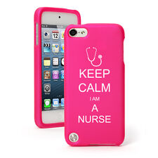 For Apple iPod Touch 4th 5th 6th Rubber Hard Case Cover Keep Calm I Am A Nurse