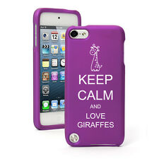For Apple iPod Touch 4th 5th 6th Rubber Hard Case Cover Keep Calm Love Giraffes