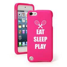 For Apple iPod Touch 4th 5th 6th Rubber Hard Case Cover Eat Sleep Tennis