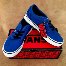 NEW VANS ATWOOD CANVAS SKATE SHOE BLUE/BLACK BOYS SZ 10.5, 1.5, 2.5