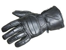 NEW THINSULATE MOTORCYCLE LEATHER FULL GLOVES BLACK
