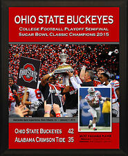 "OHIO STATE BUCKEYES 2015 Sugar Bowl Champions 8x10"" Commemorative Plaque"